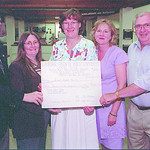 Cupe SD 57/Friday Brent Braaten-July 12/2001  SD 57 Board Chair Bill Christie, Margaret Marleau, Marilyn Hannah, Shelley Fuoco, all with CUPE local 3742 and SD 57 Superintendent Phil Redmond ...